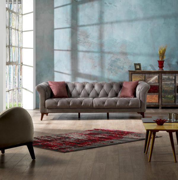 3 Seater Smokey Grey Sofa