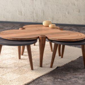 Clover Walnut Coffee Table