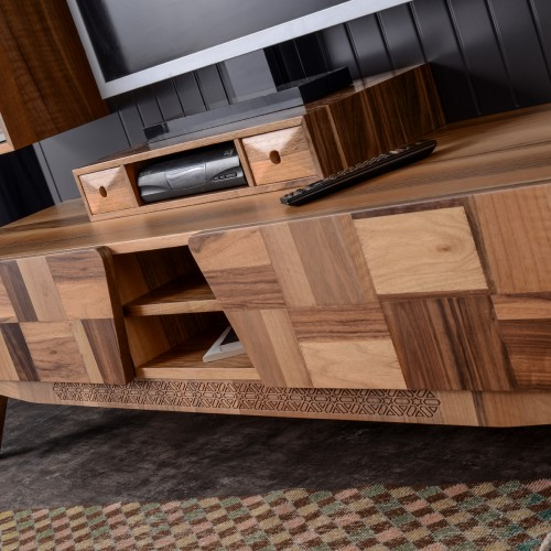 Mare Walnut TV Unit Set