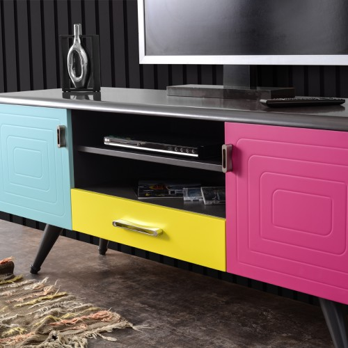 Multi Track Colorful TV Unit
