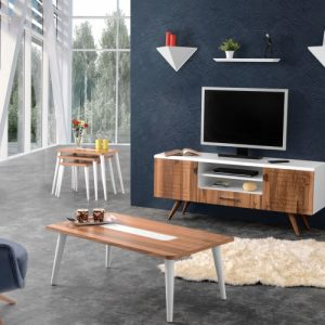Multi Track Walnut TV Unit