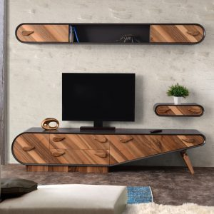 Retro Walnut TV Unit Set