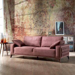 3 Seater Dry Rose Sofa