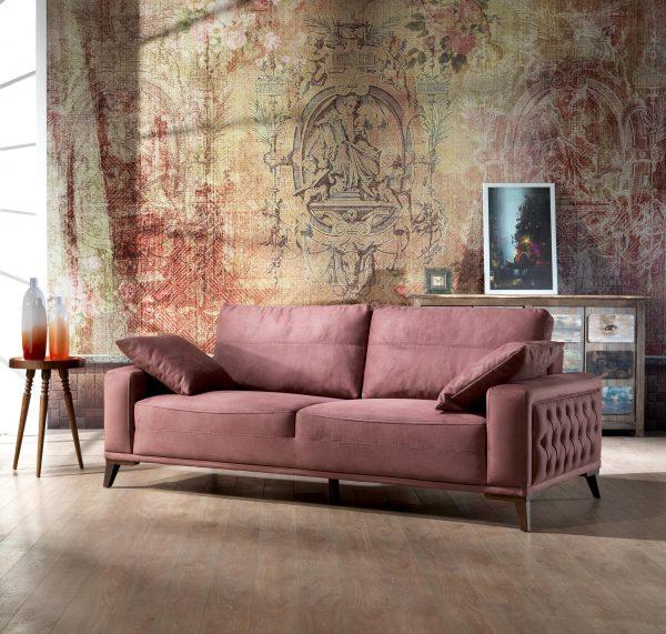 3 Seater Dry Rose Sofa