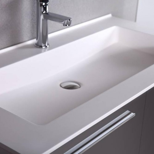 Mare Collection Aspe 40 Quot Inch Glossy Grey Single Sink