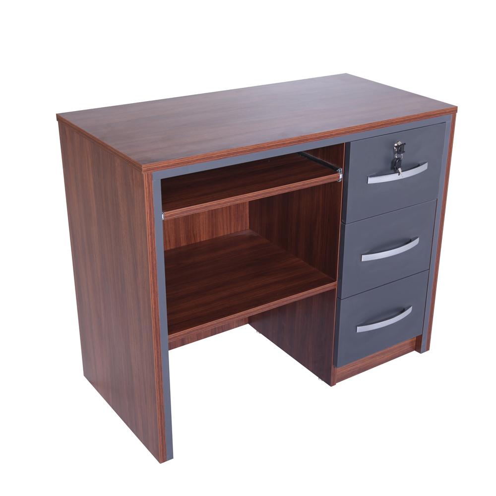 Casa Mare Arya 4 Pieces Office Furniture Set Home Desk Executive Rustic Brown Black 71 Designer Goods