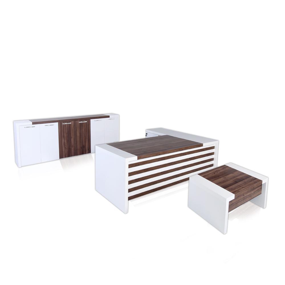 - CASA MARE LEON 3 Piece 87 Inch L Shaped Office Furniture Set