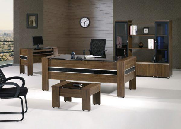 """Furniture Set 75"""" Rustic Brown Black"""
