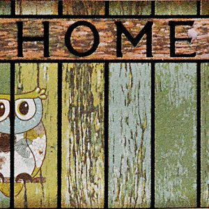 GIZ HOME'S MOSAIC DESIGN OWL OUTDOOR MAT 8834N-17