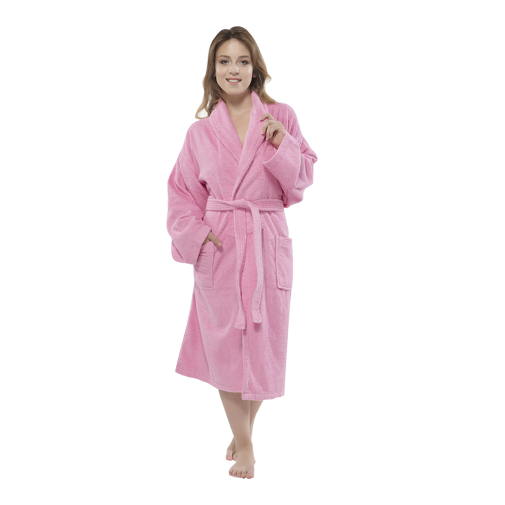 642ee6924a Shop. Home   Products   outofstock   100% Turkish Cotton Terry Shawlcollar Women s  Bathrobe by Chesme Pink ...