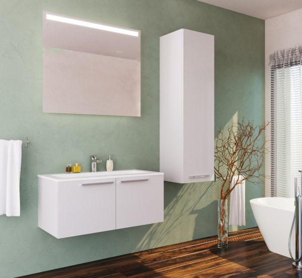 White Bathroom Vanity Set