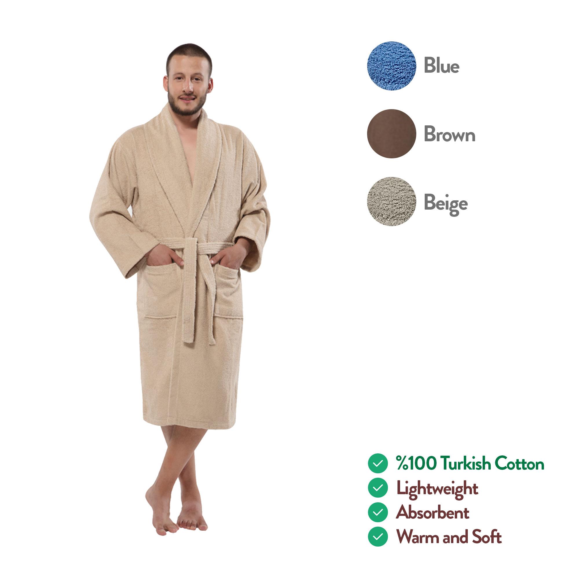 100% Turkish Cotton Terry Kimono Men s Bathrobe by ... e390ef303