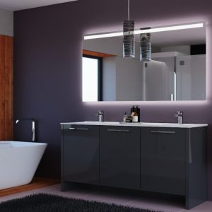 Benna Glossy Grey Bathroom Vanity