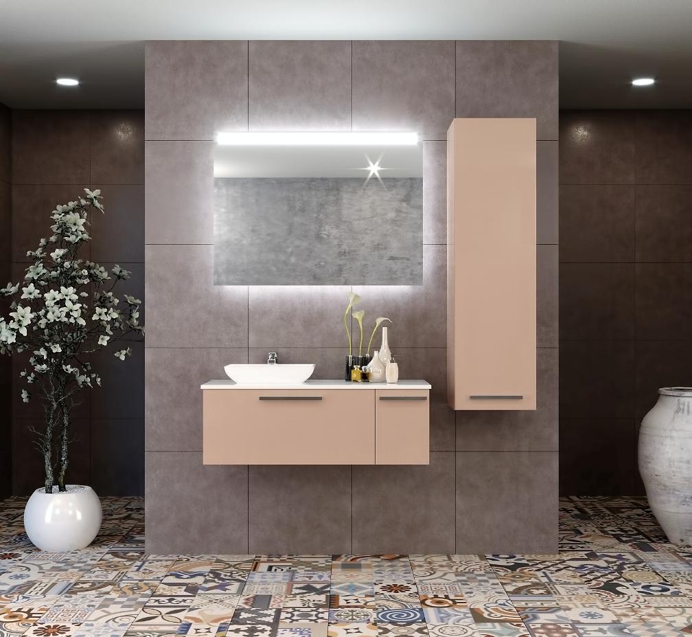 high brown gloss walnut bathroom hgbg iron grey wn tn contemporary wall glossy inch modern vanity mount buy vanities