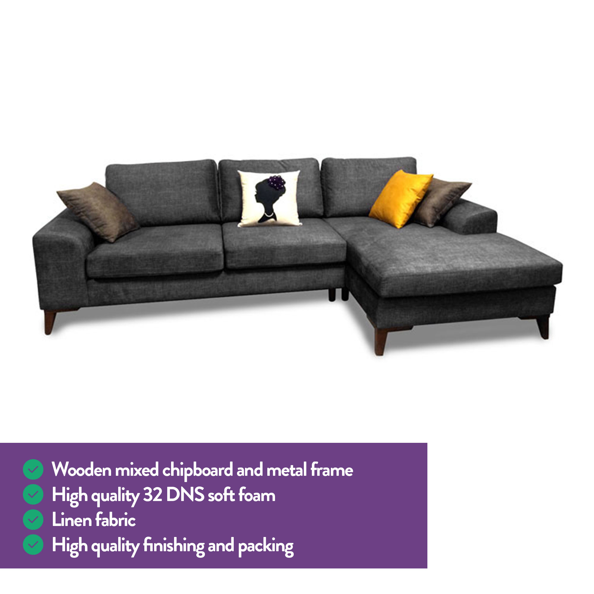Surprising Mare Collection Halley L Shaped Sectional Sofa Home Designer Goods Download Free Architecture Designs Scobabritishbridgeorg